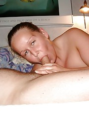 Blonde Abby sucks cock and dildo fucks herself