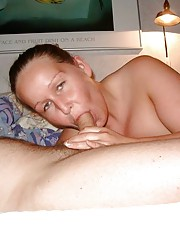 Abby sucks cock and gets her boobies creamed
