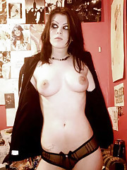 Pictures of a busty amateur gothic babe