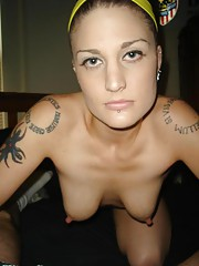 Pics of tattooed emo babe getting fucked