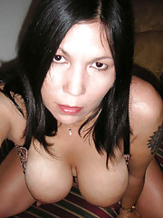 Busty MILF Mona in her many topless poses