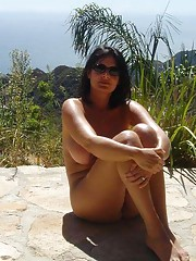 Busty wife naked in Bali
