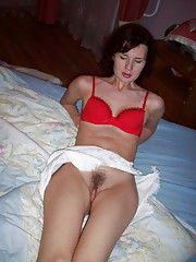 Horny mom spreading her legs for daddy