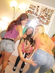 Super hot ass big tits college babes power fucked hard in these screaming dorm room amatuer parties