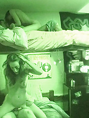 2 hot lingerie college teens strip and fuck in this real dorm room sex party