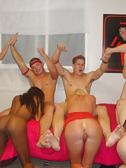 Crazy fucking fireman dorm room sex party hot babe fucked and cumfaced