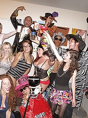 College teens get drilled hard in this real user submitted college dress up sex orgy