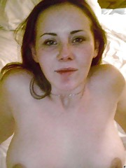 Shaved naked wife posing sexy for her hubby
