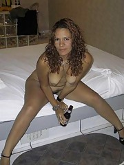 Compilation of a skanky wife in various sleazy poses