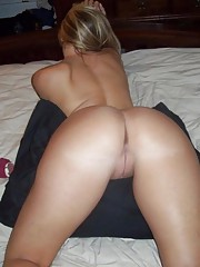 Blonde wife with a tight ass and smooth-shaven snatch