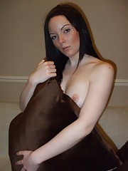 Kinky wives posing sleazy for their husbands