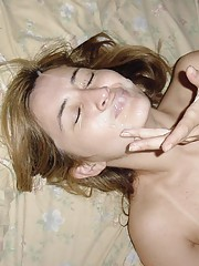 Cocksucking amateur wife gets fucked and jizzed on