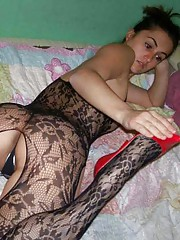 Picture collection of an amateur sexy wild wife in her skanky lingerie