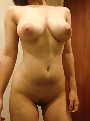 Hot heavy-chested amateur babes posing sexy
