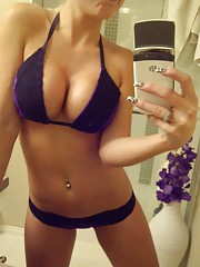 Collection of sexy heavy-chested amateur girlfriends