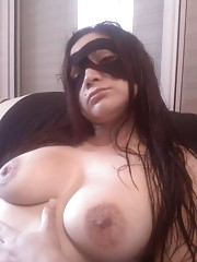 Kinky amateur busty sexy hotties posing for the cam