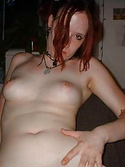 Naked wild horny amateur GF fingers her moist pussy