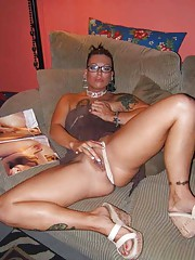 Picture collection of an amateur horny naked skanky chick masturbating
