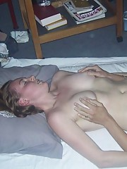 Photo gallery of an amateur steamy hot fuck playing with her pussy