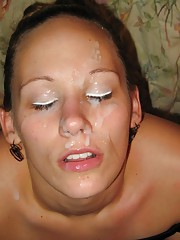 Hot photo selection of amateur cum-drenched babes