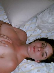 Compilation of a hot chick getting jizzed on her breasts