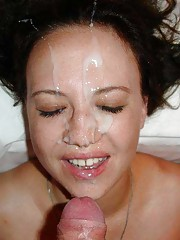 Wild naughty amateur girlfriends enjoying sticky jizz