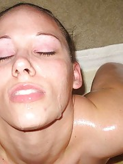 Picture collection of horny wild jizzed-on amateur sluts