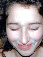 Picture selection of amateur sexy naughty bitches enjoying sticky cum facial