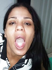 Picture collection of an amateur wild horny cum-swallowing slut