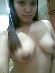 Sexy kinky Asian babes posing naked for their BFs