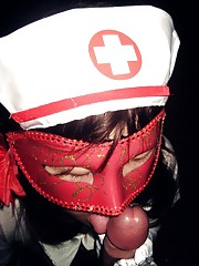 Masked amateur Asian GF in naughty nurse unifrom