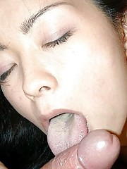 Japanese GF fingering her cunt and sucking cock