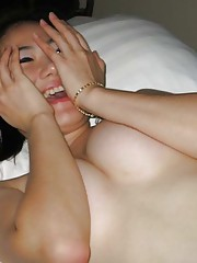 Photo gallery of an amateur naked Chinese slut in a motel