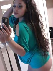 Gallery of a busty Latina babe camwhoring for her man