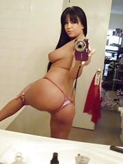 Photo gallery of an amateur horny wild Spanish babe showing her cunt