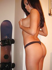 Picture collection of two amateur sexy hot-assed Mexican babes