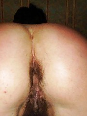 Wild blindfolded babe gets stuffed in her hairy ass