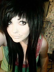 Compilation of flaming hot emo teen selfpics