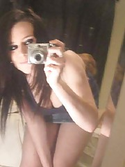 Photo gallery of a sexy amateur emo babe selfshooting