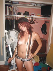 Photo gallery of an amateur wild horny punk rocker chick