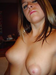 Two amateur chubby chicks showing their huge breasts