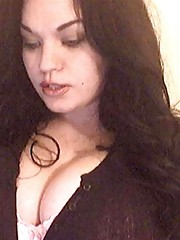 Collection of a curvy chick flaunting her huge boobs