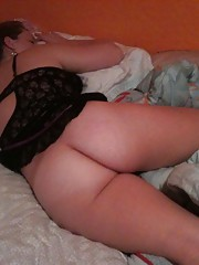 Collection of a chubby brunette girlfriend in kinky poses