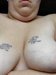Hardcore naughty BBW stuffs her fat cunt with a dildo