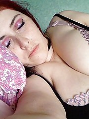 Naughty amateur horny wild plumper in sleazy poses