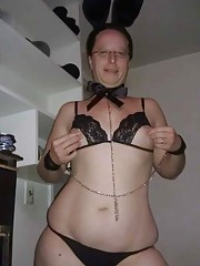 Photo gallery of a horny kinky amateur fat bitch