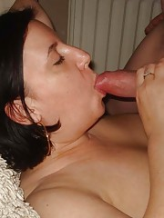 Picture collection of an amateur horny kinky cocksucking pussy-playing BBW