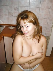 Picture compilation of an amateur sleazy jizzed-on chubby girlfriend