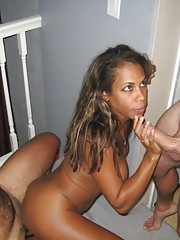 Hardcore amateur nubian babe in a wild kinky threesome