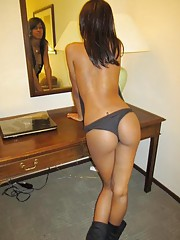 Picture collection of a sexy black amateur GF camwhoring
